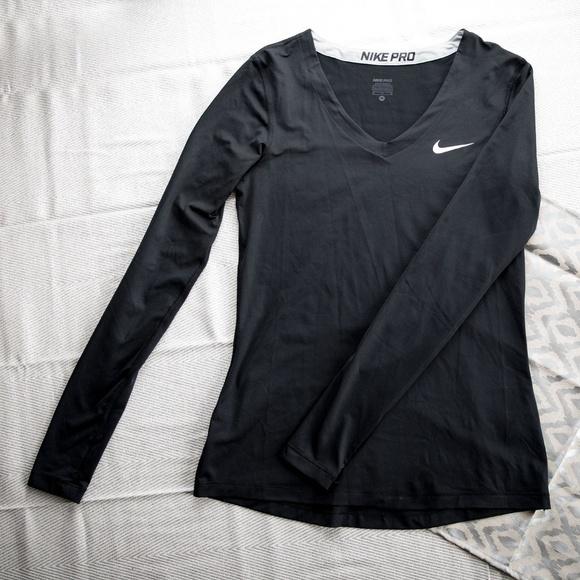 3379a662 Black Nike Pro Dri-Fit V-neck long sleeve. M_5aa9a9083a112e104ab1b89c